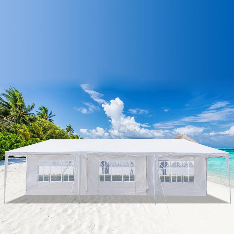 3x9m-Beach-Tent-Waterproof-Outdoor-Camping-Eight-Sides-Two-Doors-Tent-Parking-Sh thumbnail 2