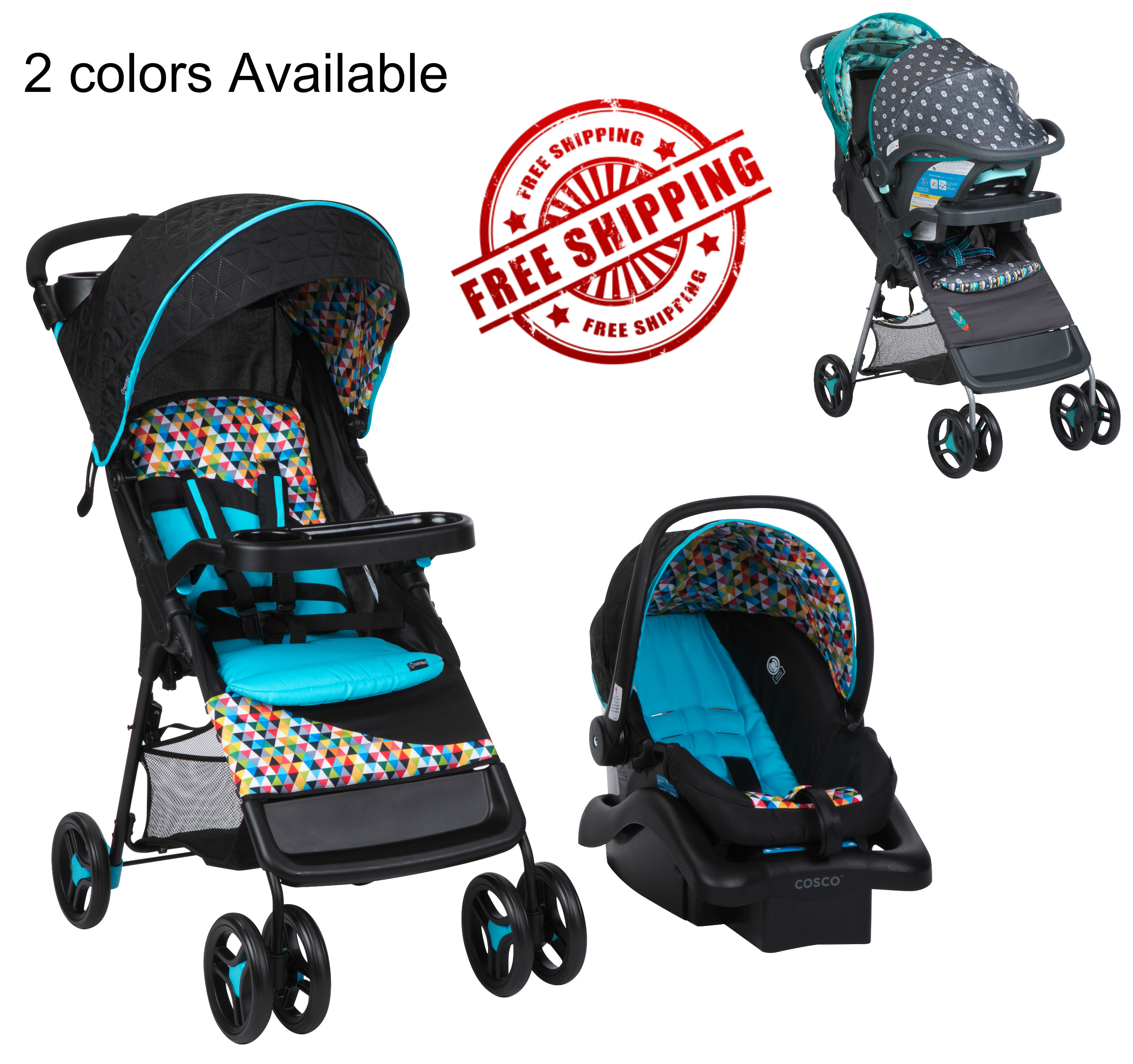 Baby Infant Car Seat Stroller Combo Boys Girl Travel System W Cup