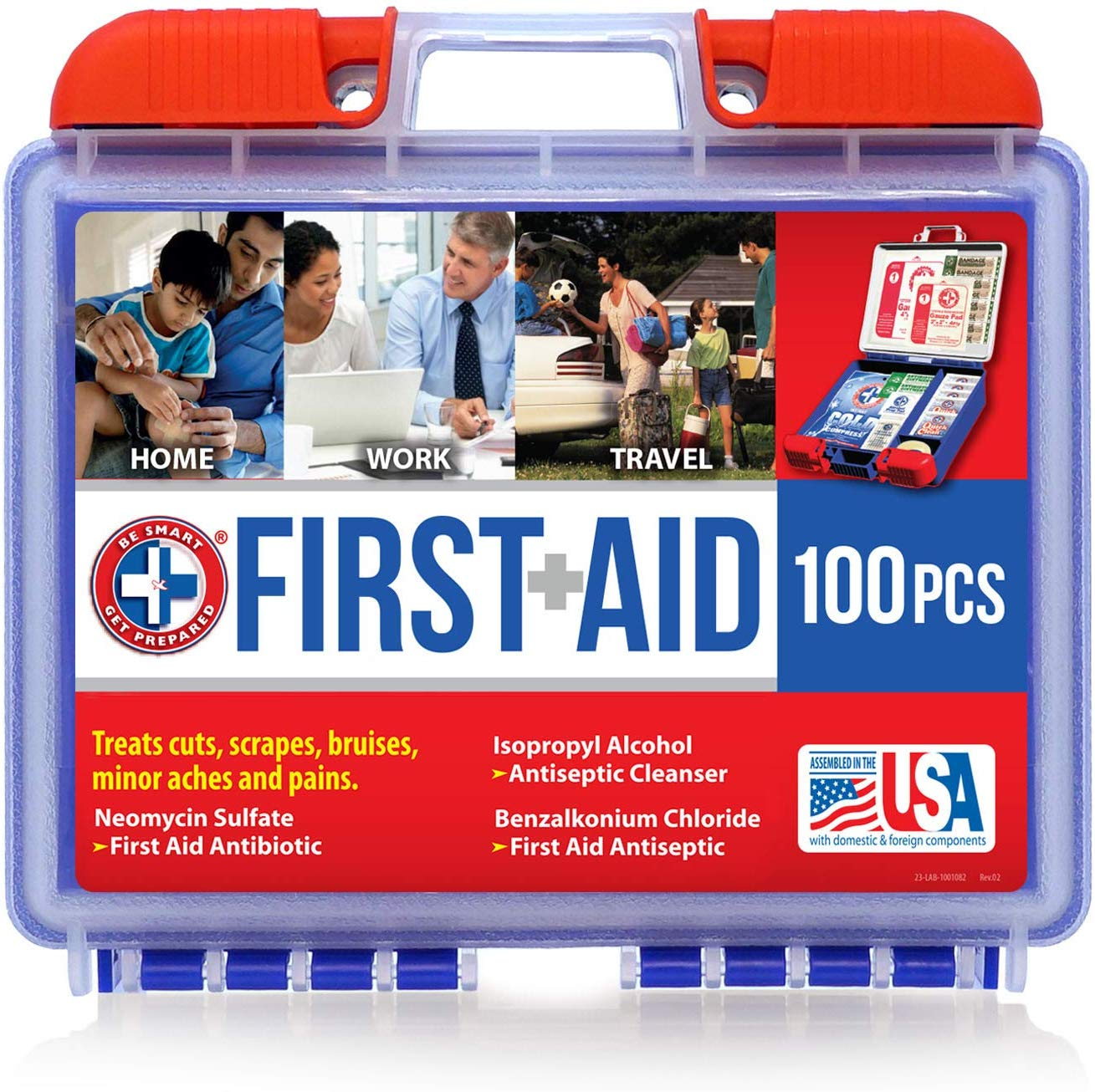 100 piece portable first aid kit great