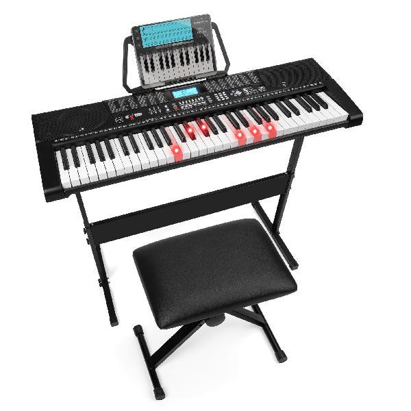 Electronic Keyboard Easy Piano 61-Key Beginner Complete Set