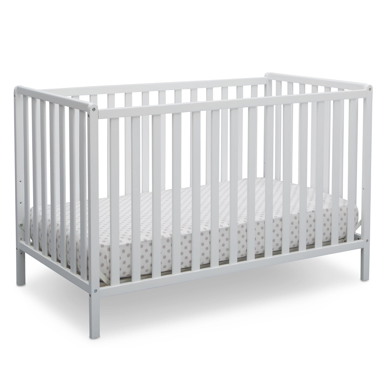 Delta Children Heartland 4-in-1 Convertible Crib, Bianca Whi