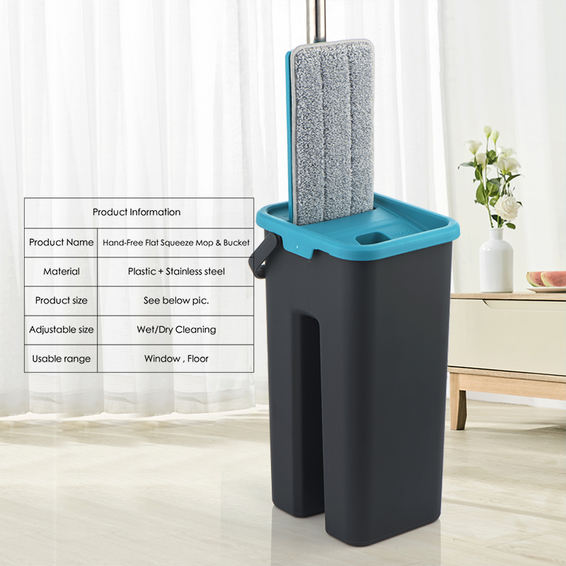 Flat-Squeeze-and-Bucket-Hand-Free-Wringing-Floor-Cleaning-Microfiber