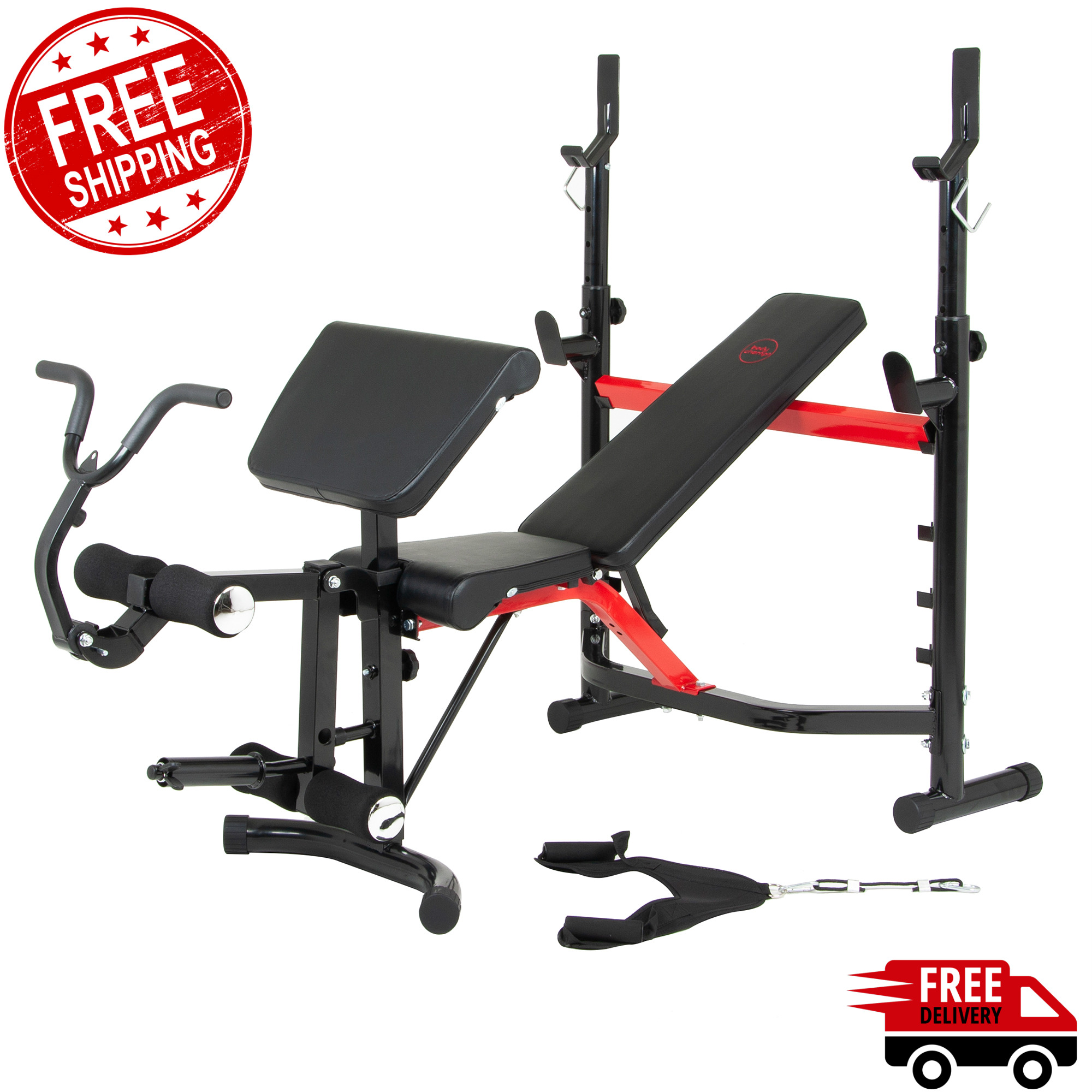 Home Gym System Adjustable Weight Lifting Bench Exercise Machine Olympic Circuit Ebay