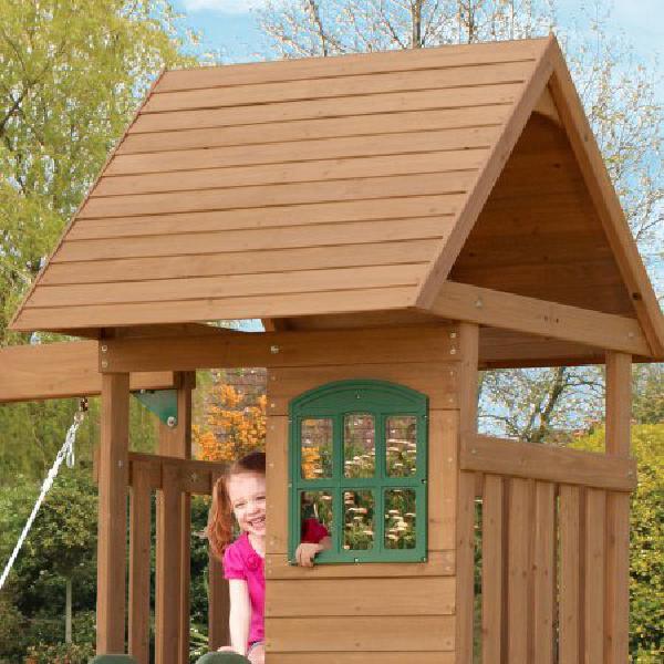 Big Backyard Windale Wooden Cedar Swing Set Outdoor ...