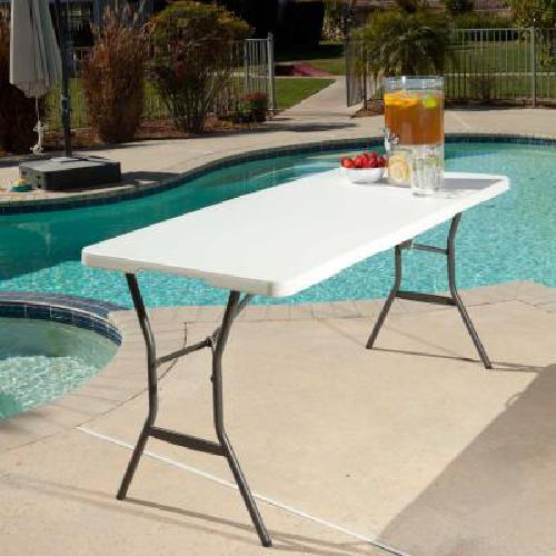Lifetime 5-Foot Fold-in-Half Portable Table Party Dining Pic