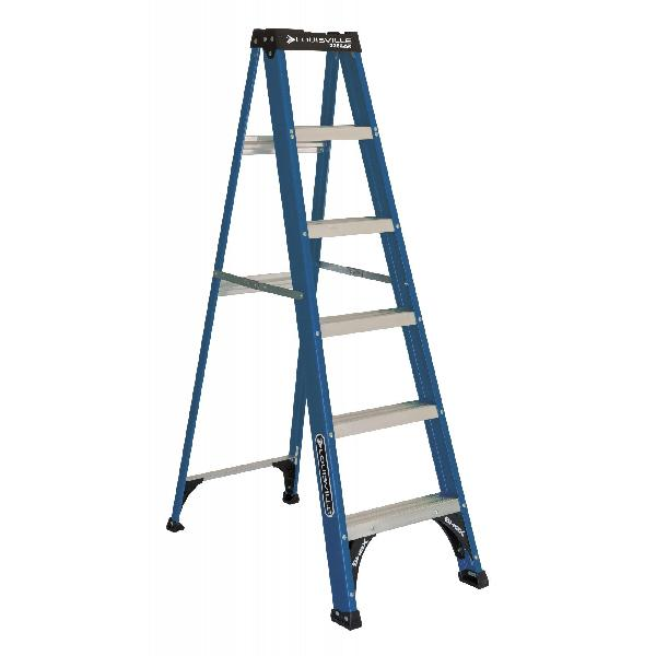 Louisville Ladder 6 Ft. Fiberglass Step Ladder, 225-Pound Ca