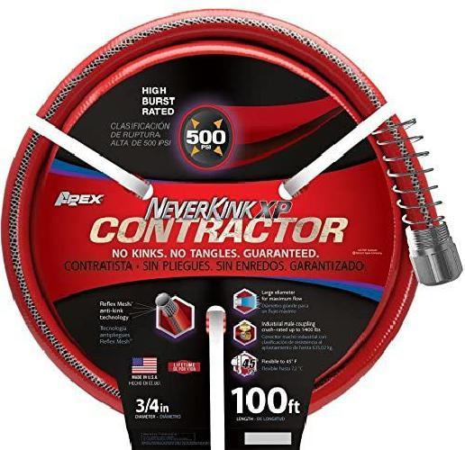 """NeverKink 3/4"""" x 100-ft Contractor All Weahter Heavy Duty Ki"""
