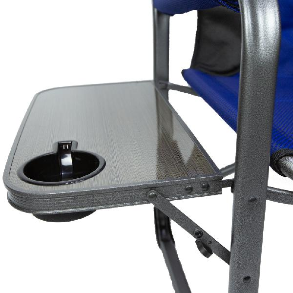 Outdoor XXL Foldable Chair Heavy Duty Camping W Side Table Drink Holder 600 lbs