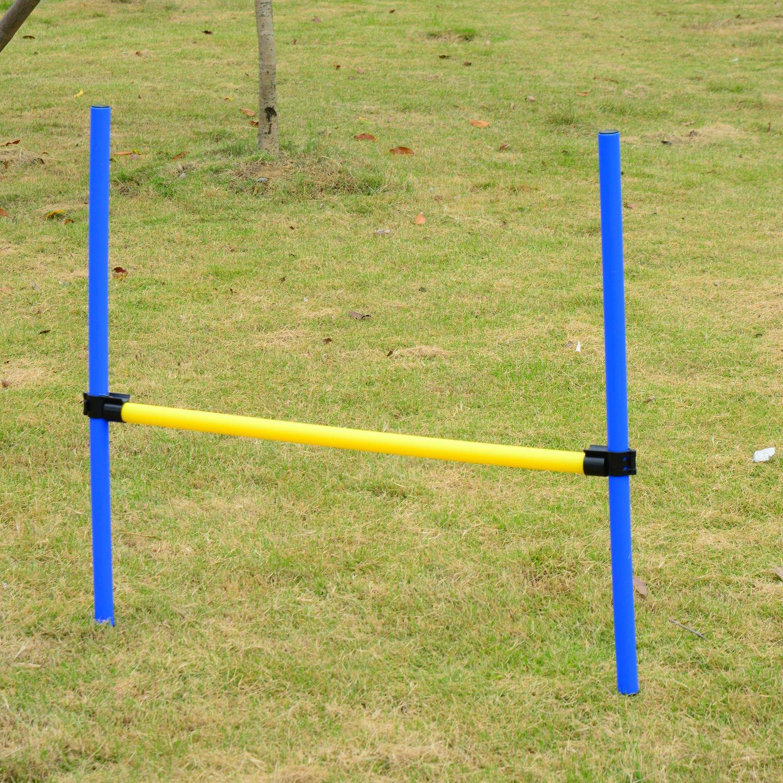 PawHut 4PC Obstacle Dog Agility Training Course Kit ...