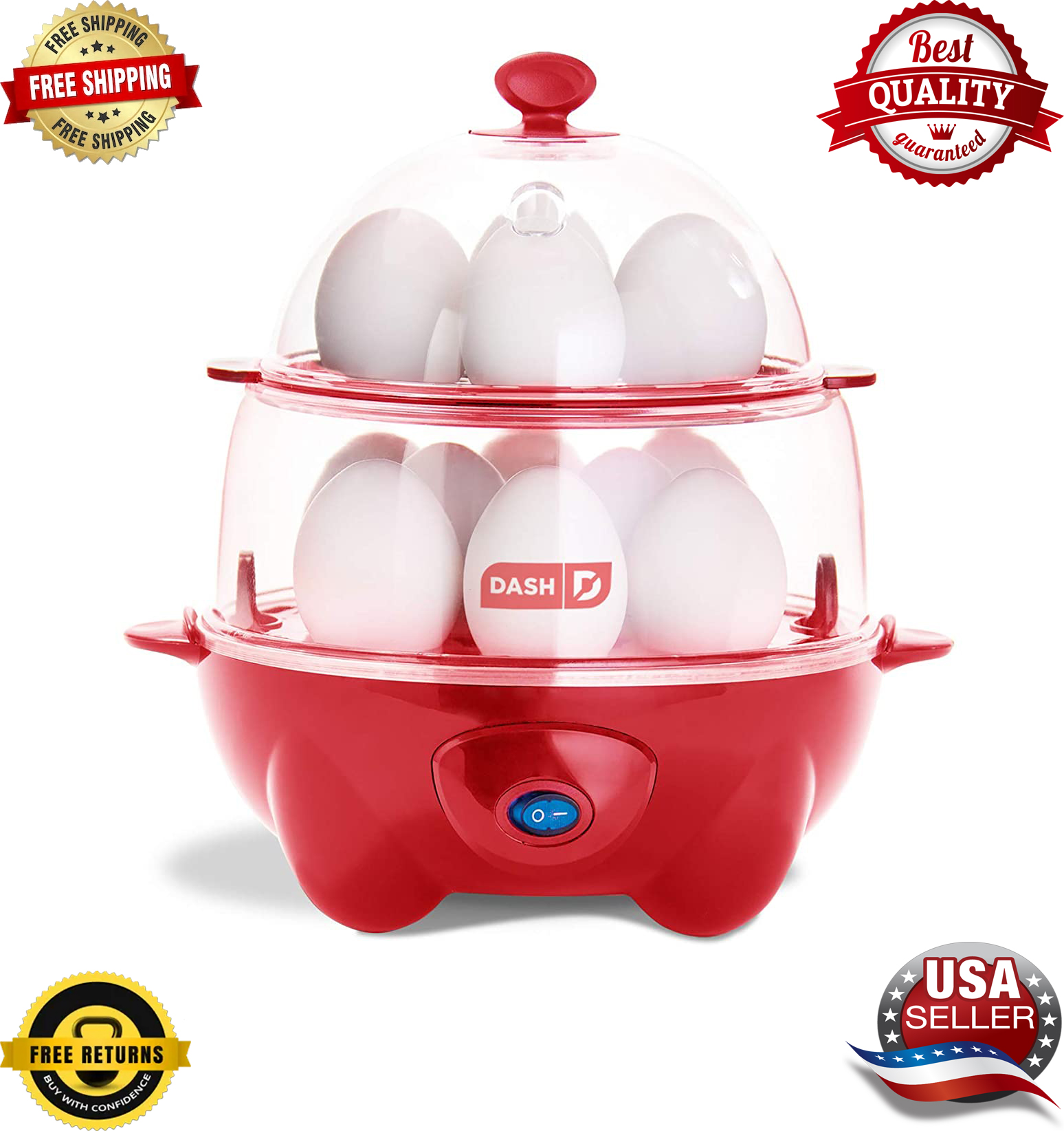 Rapid Cooker Electric Hard Boiled Poached Scrambled Eggs