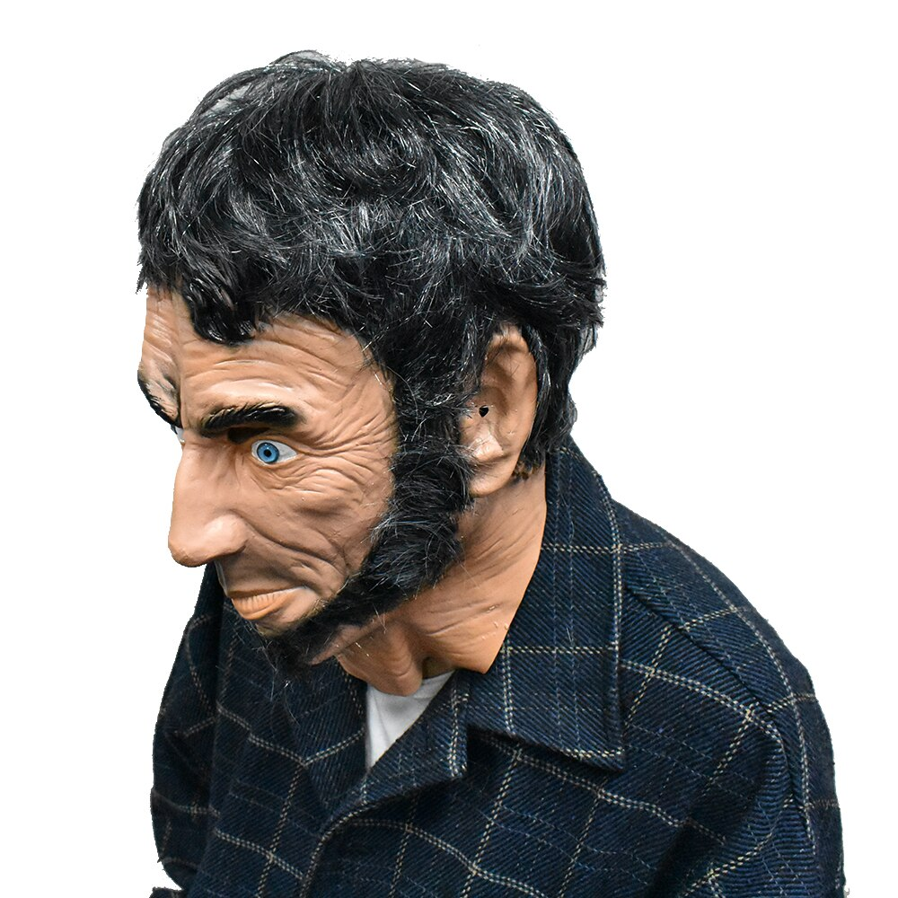 Realistic-Lincoln-Party-Abraham-Mask-Man-Costume-Latex-Mascara-Full-Face-with-Re thumbnail 5