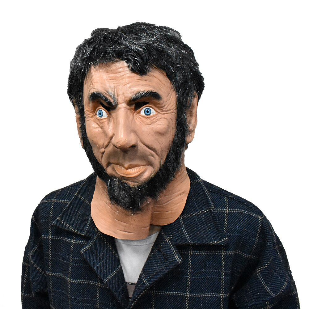 Realistic-Lincoln-Party-Abraham-Mask-Man-Costume-Latex-Mascara-Full-Face-with-Re thumbnail 6