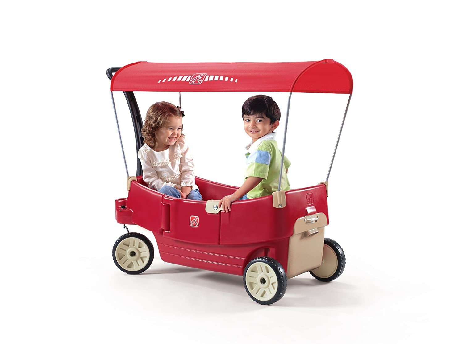 Step2 Toddler Kids Red Canopy Wagon All Around FREE SHIPPING