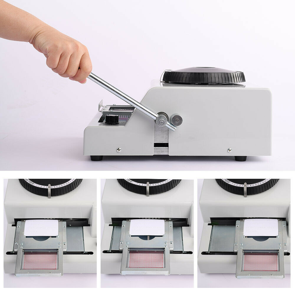 VEVOR-Embossing-Machine-72-Character-Card-Embosser-for-PVC-Card-Credit-ID-VIP-Ma thumbnail 2