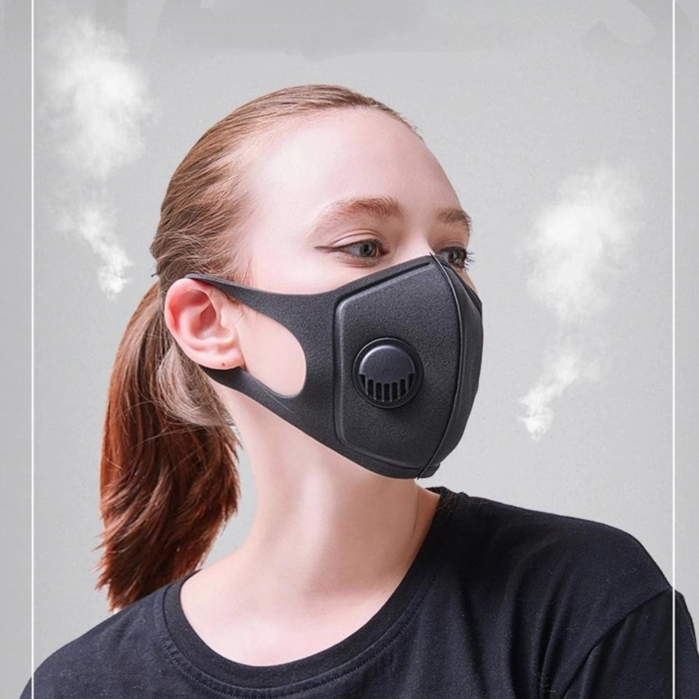 Waterproof-polyester-fiber-protective-black-plastic-mask-with-breathing-valv thumbnail 4