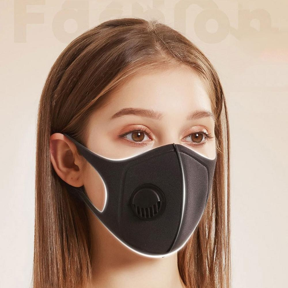 Waterproof-polyester-fiber-protective-black-plastic-mask-with-breathing-valv