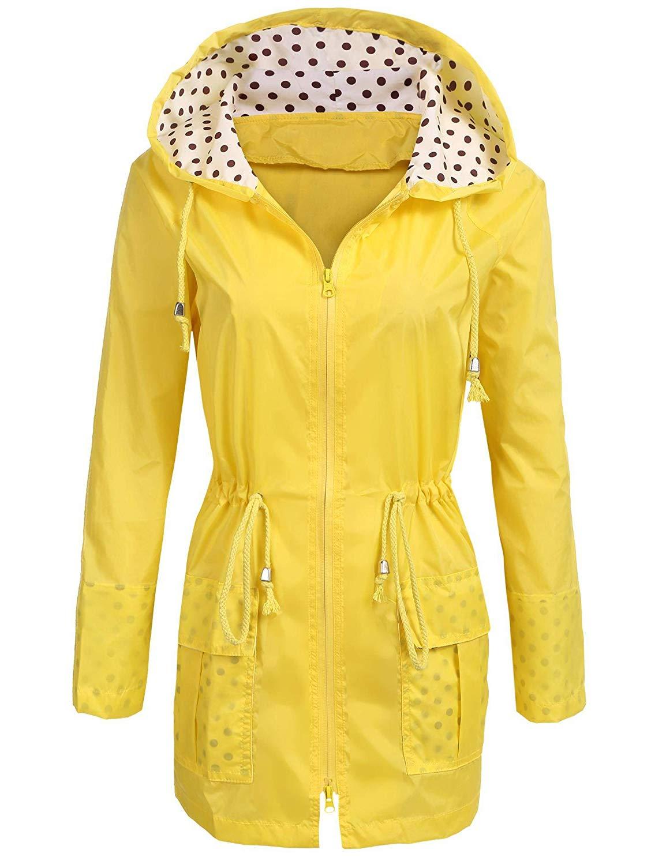 SoTeer Rain Jacket Womens Waterproof Raincoat with Hood Ligh