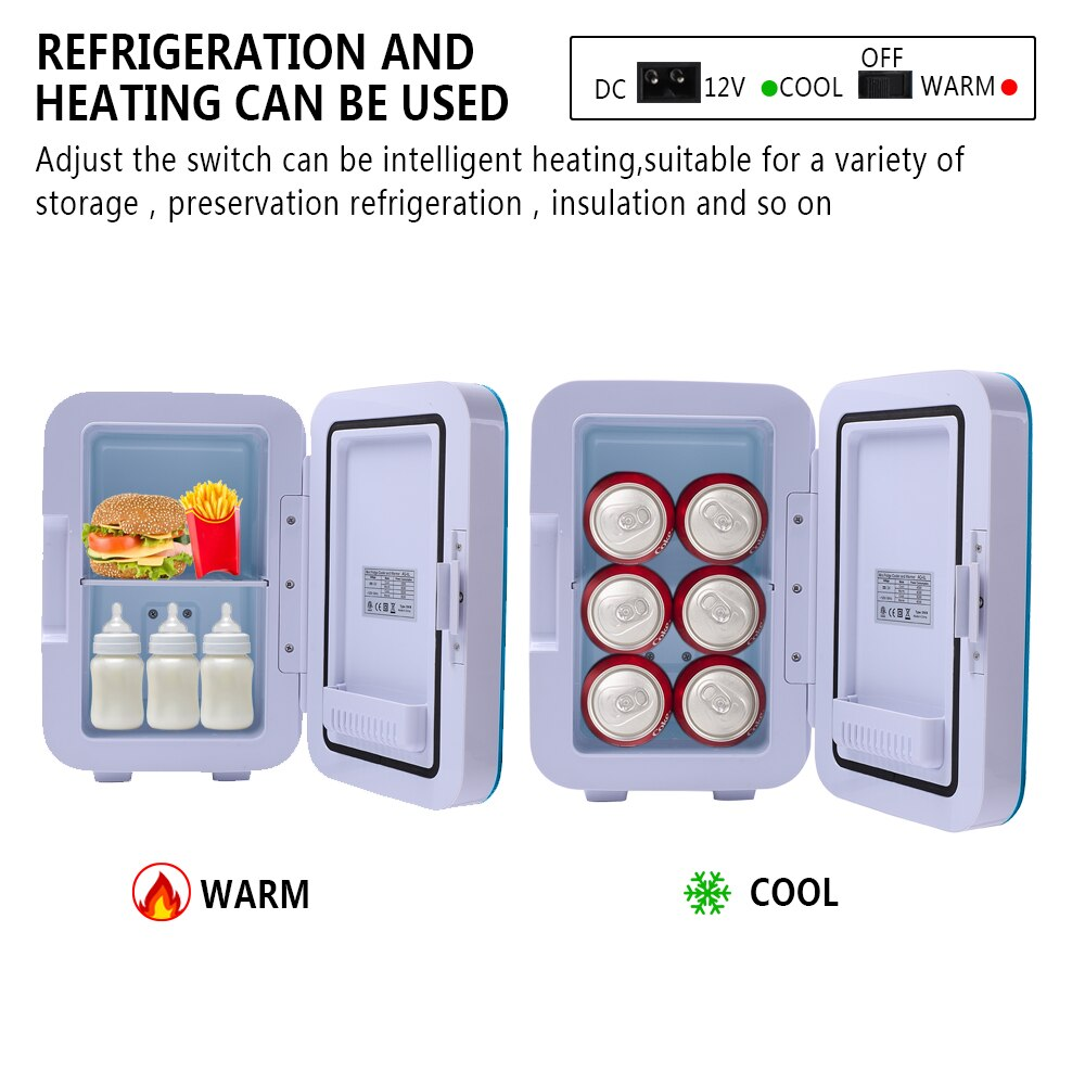 ZOKOP-Electric-Mini-Portable-Fridge-Cooler-Warmer-6-Liter-0-21-Cuft-8-Can-AC thumbnail 4